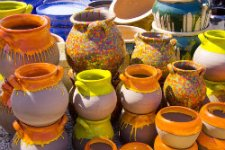 Brilliantly Colored Garden Pottery