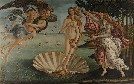 Sandro Botticelli painting demonstrating approximate symmetry