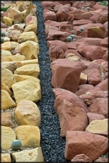 two colors of red rock walls