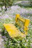 Yellow Garden Bench