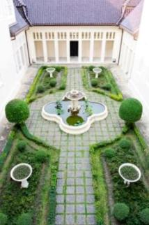 hidden courtyard in a birds eye view