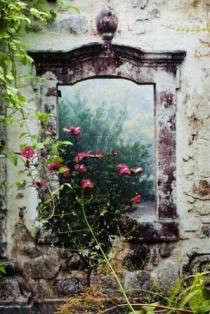 trompe-l'oeil can enliven a garden space
