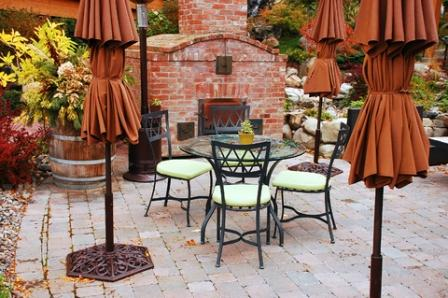 patio garden with well designed hardscape