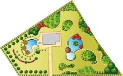 odd garden shape