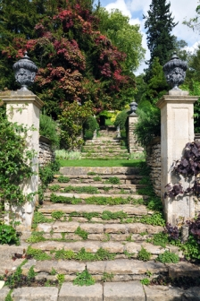 beautiful garden stairs
