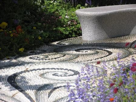 mosaic garden walkway