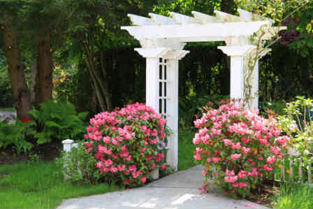 Use a beautiful trellis as the entrance to agarden path
