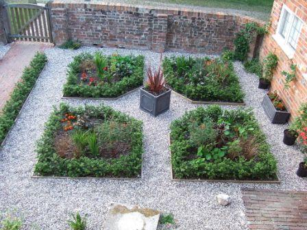 an herb garden that demonstrates bilateral symmetry