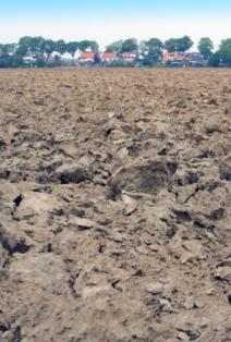 field of clay soil