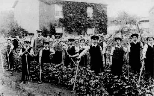 School Children in Levins School Garden in 1920s