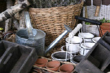 Garden Containers of Multiple Materials