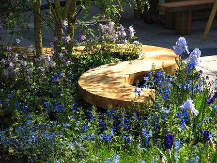 Asymmetrical Garden Bench