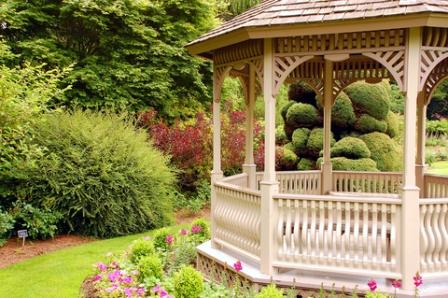 lovely garden gazebo as a garden focal point