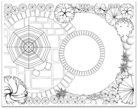 drawing plan - Garden Design Drawing