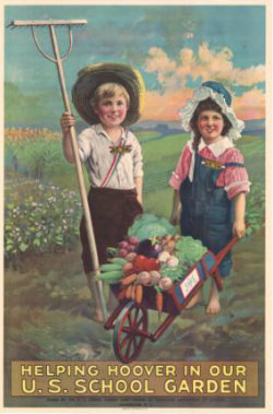 Childrens garden Helping Hoover WWI Poster