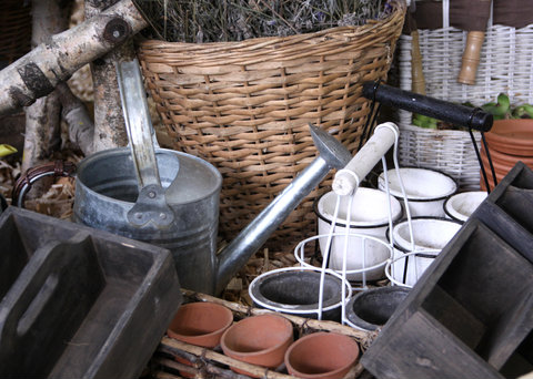 Assorted Rustic Garden Containers